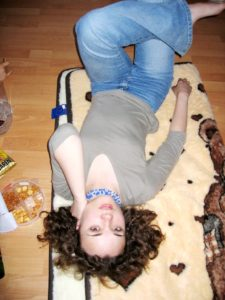 Me 12 years ago at a friends' party