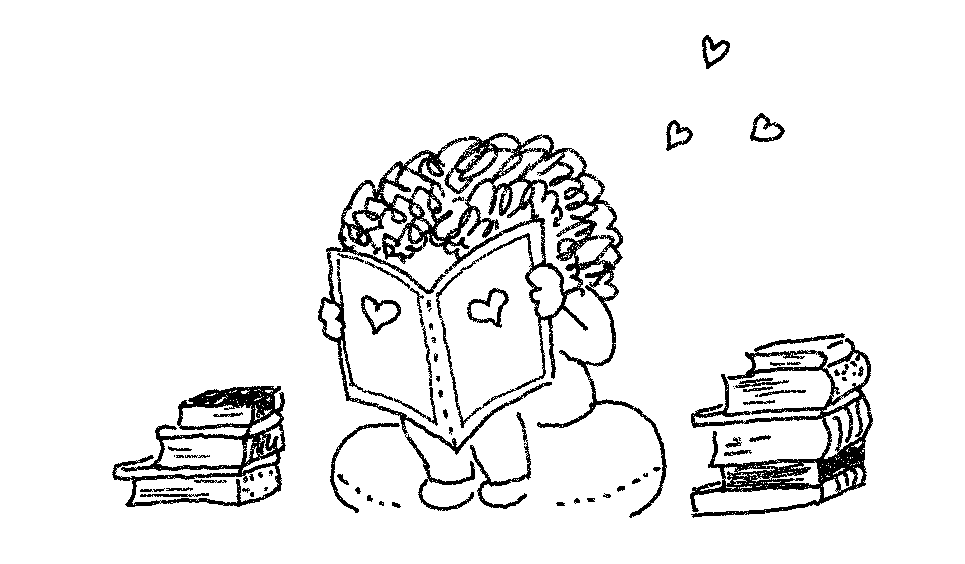 me reading books