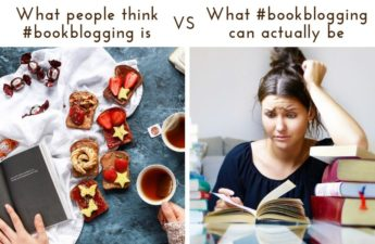 what people think book blogging is vs what it can actually be