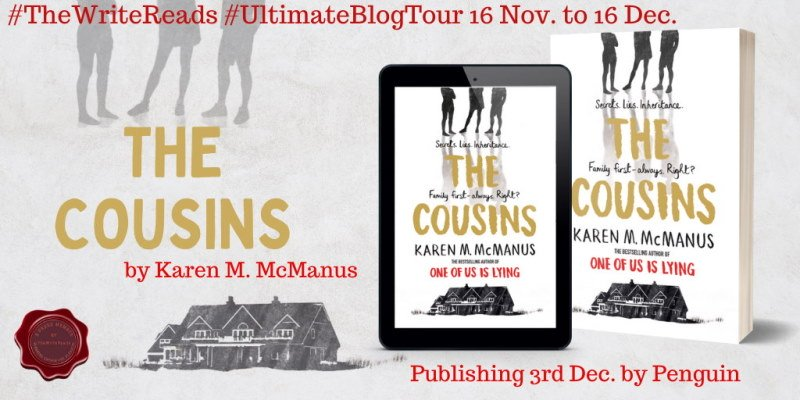 The Cousins blog tour banner