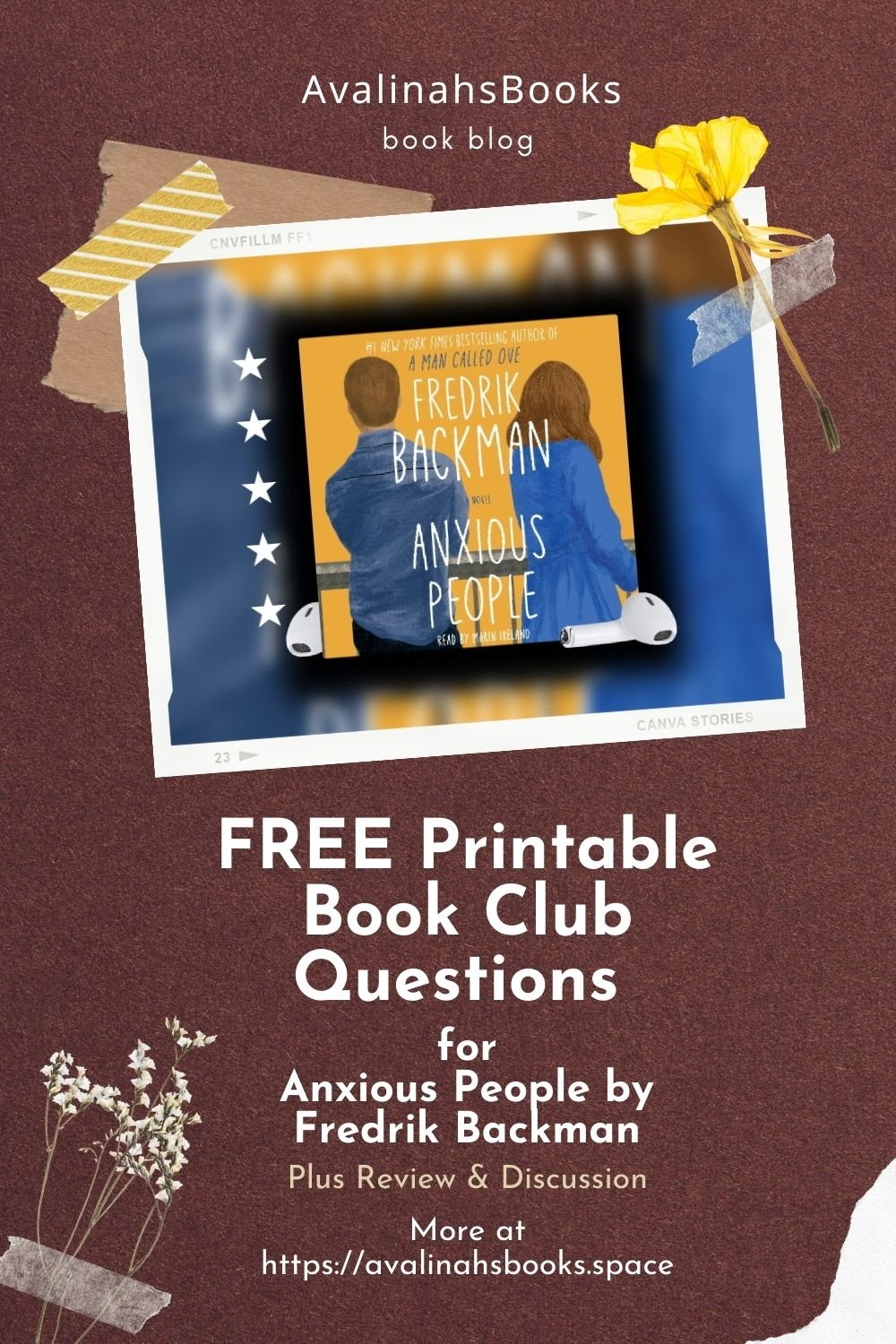 pin for book club questions for anxious people by fredrik backman