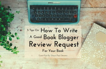 write book blogger review request