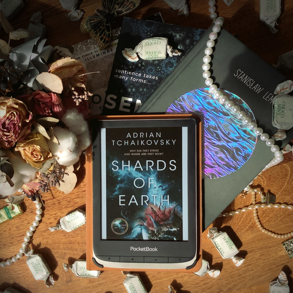 Bookstagram photo of Shards of Earth