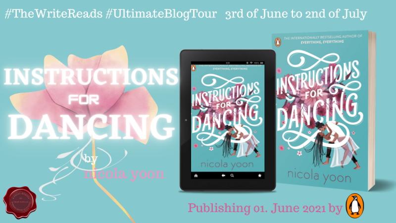 instructons for dancing blog tour banner
