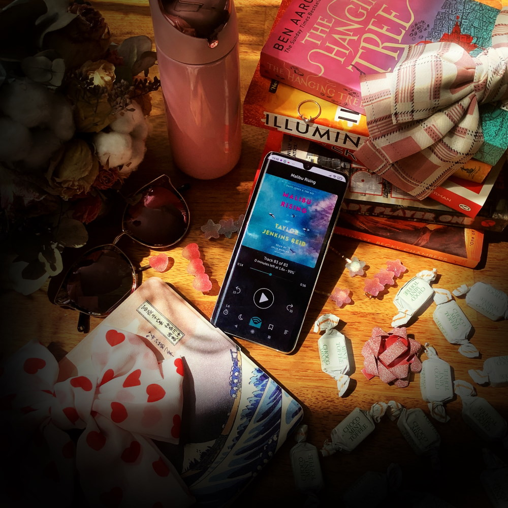 malibu rising libro fm audiobook cover and other books